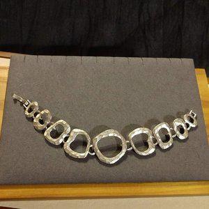 Pretty Lia Sophia Silver Tone Hammered Bracelet